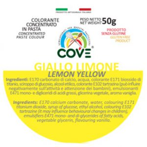 Colorante Concentrato in Pasta gr 50 - Giallo Limone