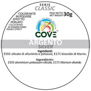 Coloranti In Polvere Effetto Perlato Serie Classic gr 30 - Argento