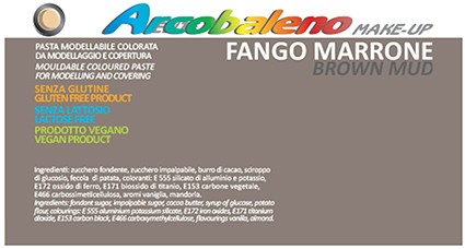 Arcobaleno Make-Up/Satinato kg 1 - Fango Marrone