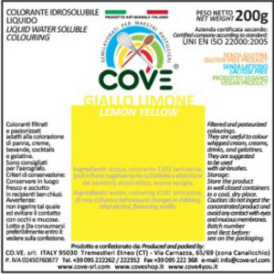 Coloranti Idrosolubili Liquidi gr 200 - Giallo Limone