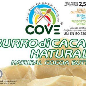 Burro di cacao naturale kg 2,5