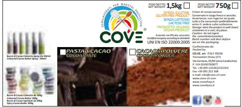 Pasta di Cacao Amara kg 1.5