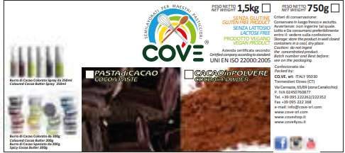 Cacao in polvere gr 400