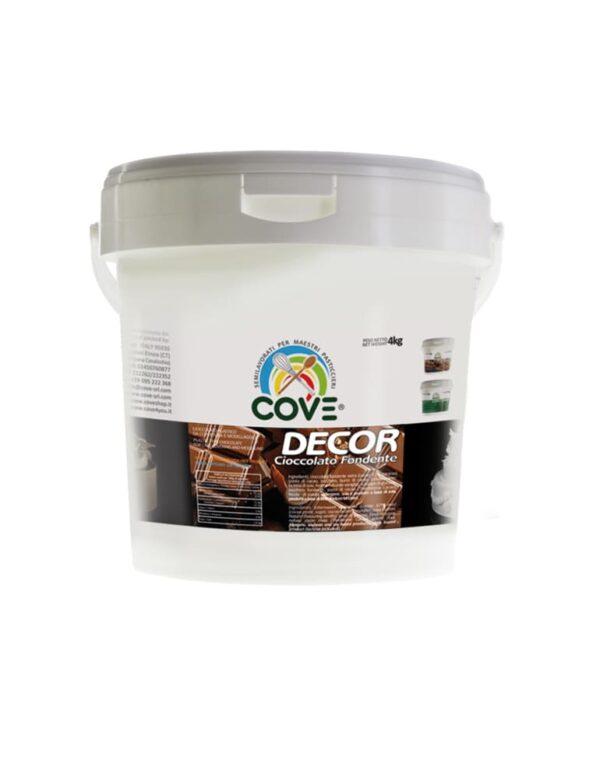 cove decor cioccolato fondente pasta modellabile