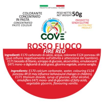 Colorante Concentrato in Pasta gr 50 - Rosso Fuoco