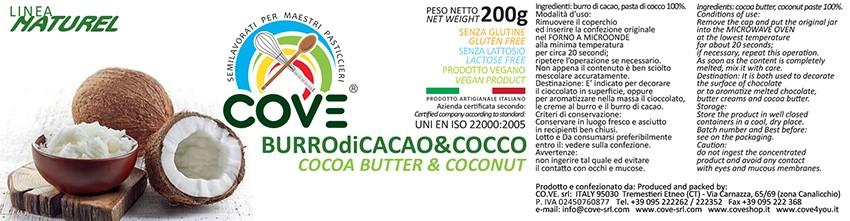 Burro di cacao Linea Naturel - Burro di Cacao & Cocco gr 200