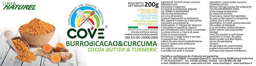 Burro di cacao Linea Naturel - Burro di Cacao & Turmeric gr 200