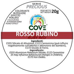 Coloranti in Polvere Perlati gr 20 - Rosso Rubino