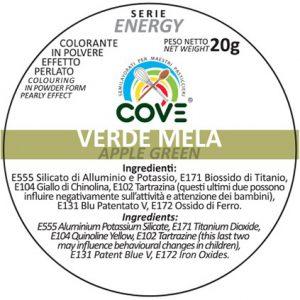 Coloranti in Polvere Perlati gr 20 - Verde Mela