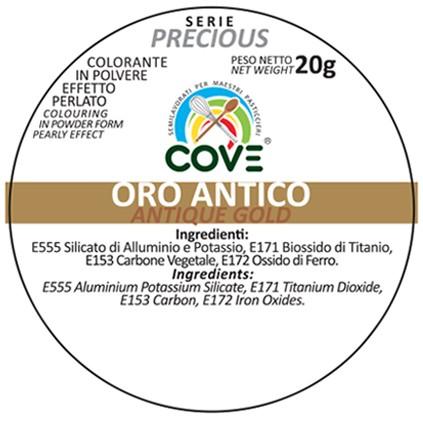 Coloranti in Polvere Perlati gr 20 - Oro Antico