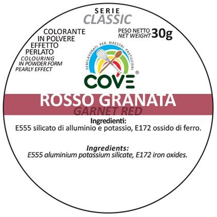 Coloranti In Polvere Effetto Perlato Serie Classic gr 30 - Rosso Granata