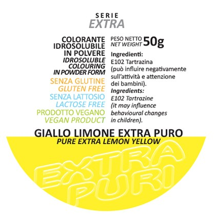 Coloranti in Polvere Serie EXTRA PURI gr 50 - Giallo Limone