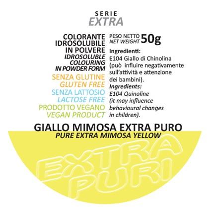 Coloranti in Polvere Serie EXTRA PURI gr 50 - Giallo Mimosa