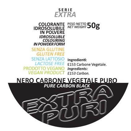 Coloranti in Polvere Serie EXTRA PURI gr 50 - Nero Carbone Vegetale