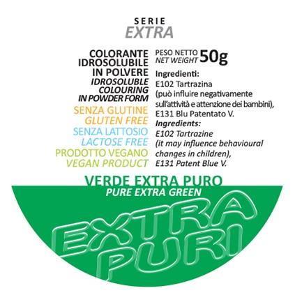 Coloranti in Polvere Serie EXTRA PURI gr 50 - Verde