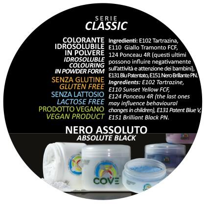 Coloranti in Polvere Serie Classic gr 500 - Nero Assoluto