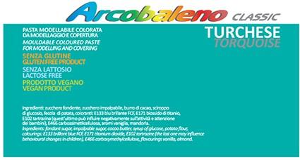 Arcobaleno Classic kg 1 - Turchese