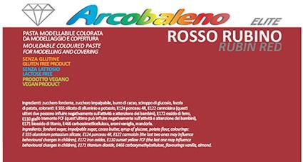 Arcobaleno Elite/Perlato kg 1- Rosso Rubino