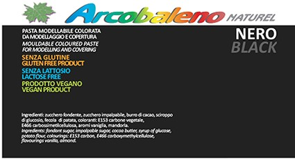 Arcobaleno Naturel kg 1 - Nero