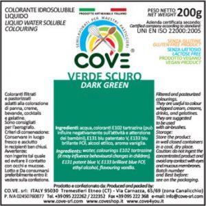Coloranti Idrosolubili Liquidi gr 200 - Verde Scuro