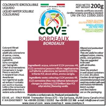 Coloranti Idrosolubili Liquidi gr 200 - Rosso Bordeaux