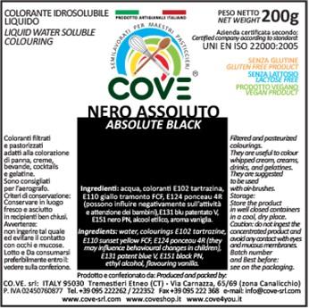Coloranti Idrosolubili Liquidi gr 200 - Nero Assoluto