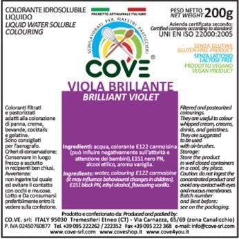 Coloranti Idrosolubili Liquidi gr 200 - Viola Brillante