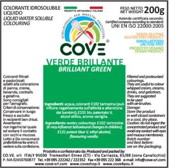 Coloranti Idrosolubili Liquidi gr 200 - Verde Brillante