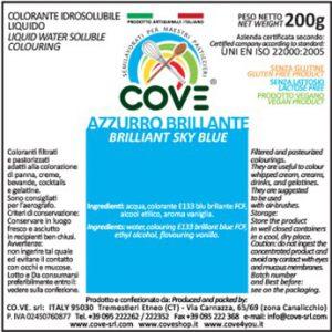 Coloranti Idrosolubili Liquidi gr 200 - Azzurro Brillante