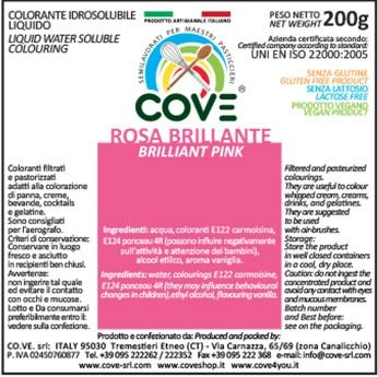 Coloranti Idrosolubili Liquidi gr 200 - Rosa Brillante