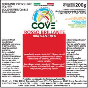 Coloranti Idrosolubili Liquidi gr 200 - Rosso Brillante