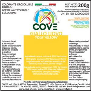 Coloranti Idrosolubili Liquidi gr 200 - Giallo Uovo
