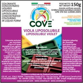 Coloranti Liposolubili in Oli Vegetali gr 150 - Viola Brillante