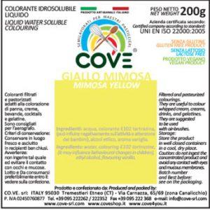 Coloranti Idrosolubili Liquidi gr 200 - Giallo Mimosa