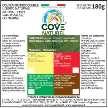 Coloranti Naturali Liquidi gr 180 - Bruno Caramello