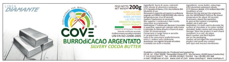 Burro di cacao Linea Diamante gr 200 - Argento