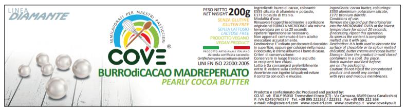 Burro di cacao Linea Diamante gr 200 - Madreperlato