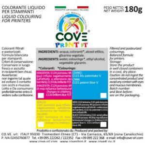 Coloranti Alimentari per Stampanti gr 180 - Rosso M